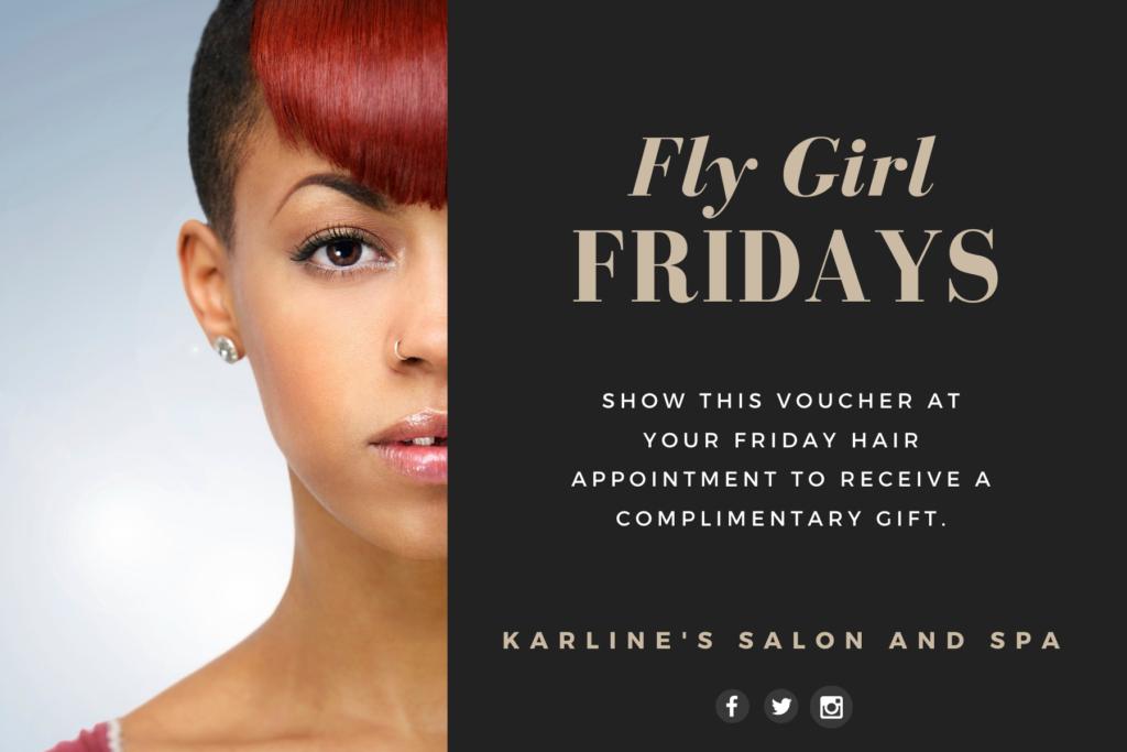 Karline's Salon and Spa Fly Girl Fridays voucher